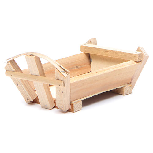 Nativity accessory, cradle in wood for Baby Jesus 8x14x9cm 2