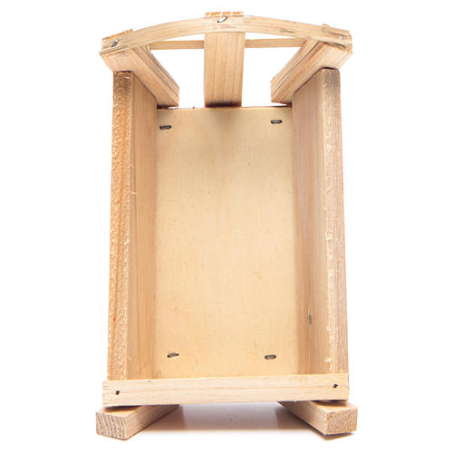 Nativity accessory, cradle in wood for Baby Jesus 8x14x9cm 3