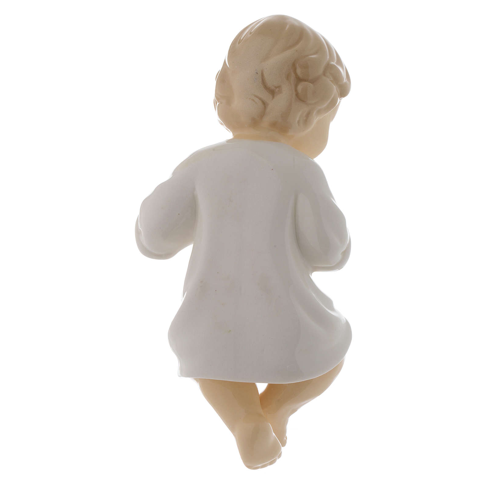 Gesù Bambino ceramica lucida 17 cm 3
