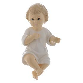 Gesù Bambino ceramica lucida 17 cm s1