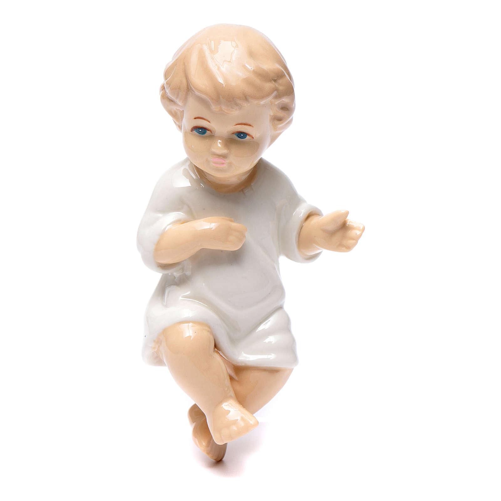 Baby Jesus in shiny ceramic  10 cm 3