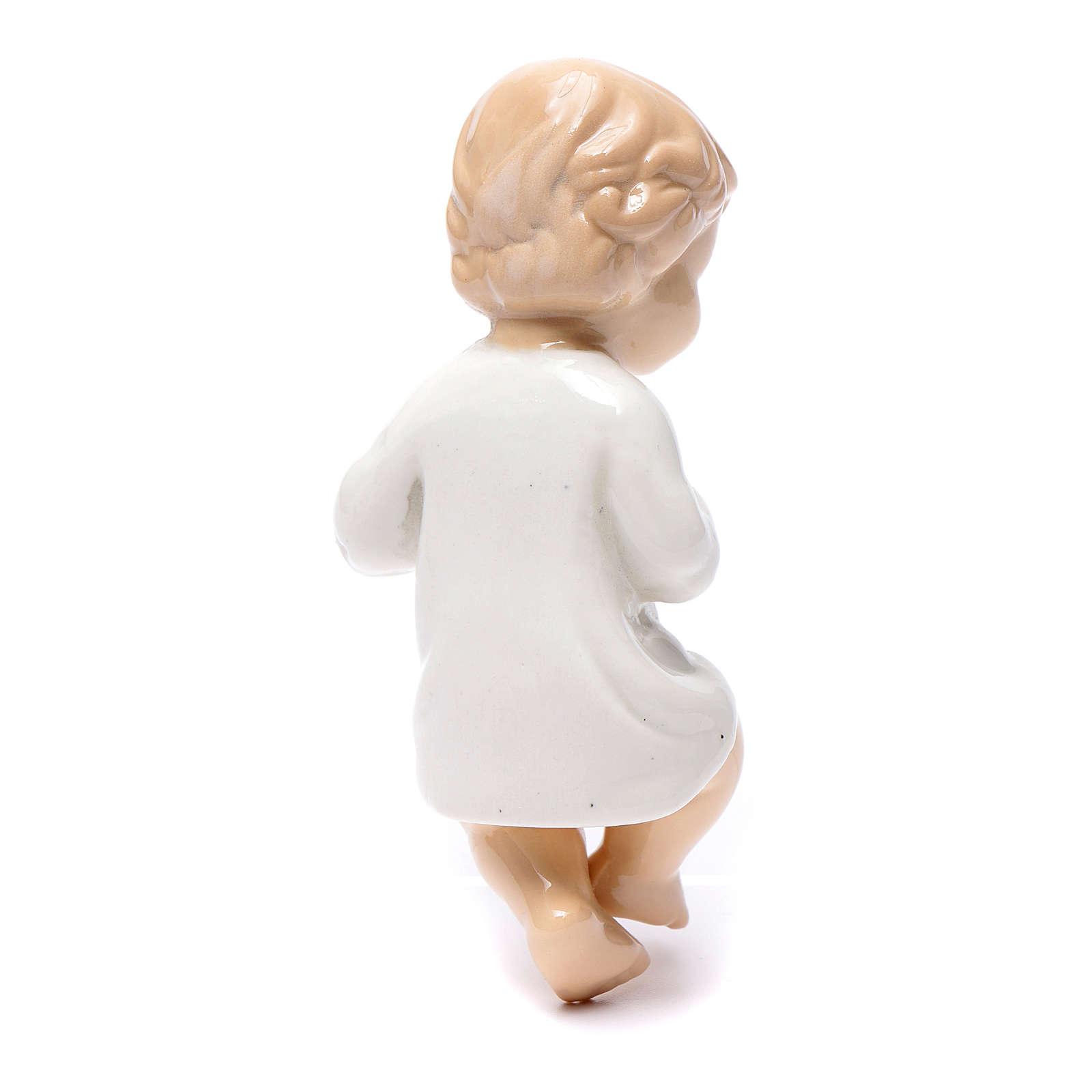 Gesù bambino ceramica lucida 10 cm 3