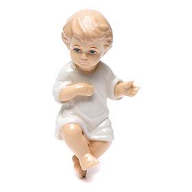 Gesù bambino ceramica lucida 10 cm s1
