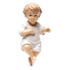 Gesù bambino ceramica lucida 20 cm s1