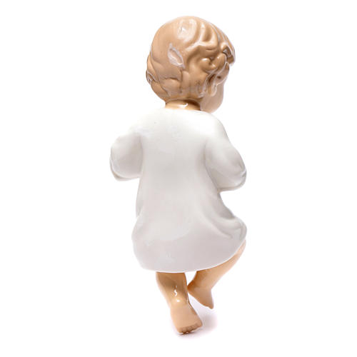 Gesù bambino ceramica lucida 20 cm 2