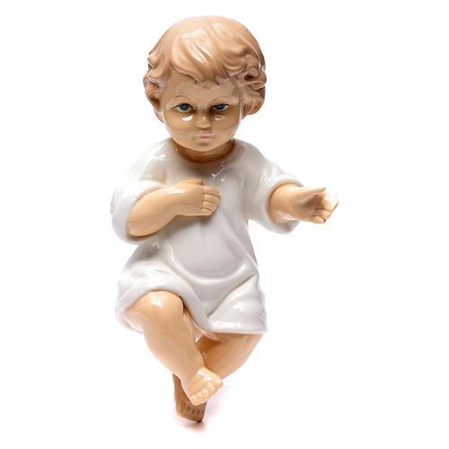Gesù bambino ceramica lucida 25 cm 1