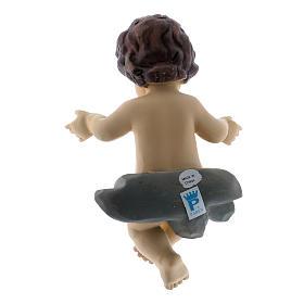 Statua Bambin Gesù h reale 10 cm s2