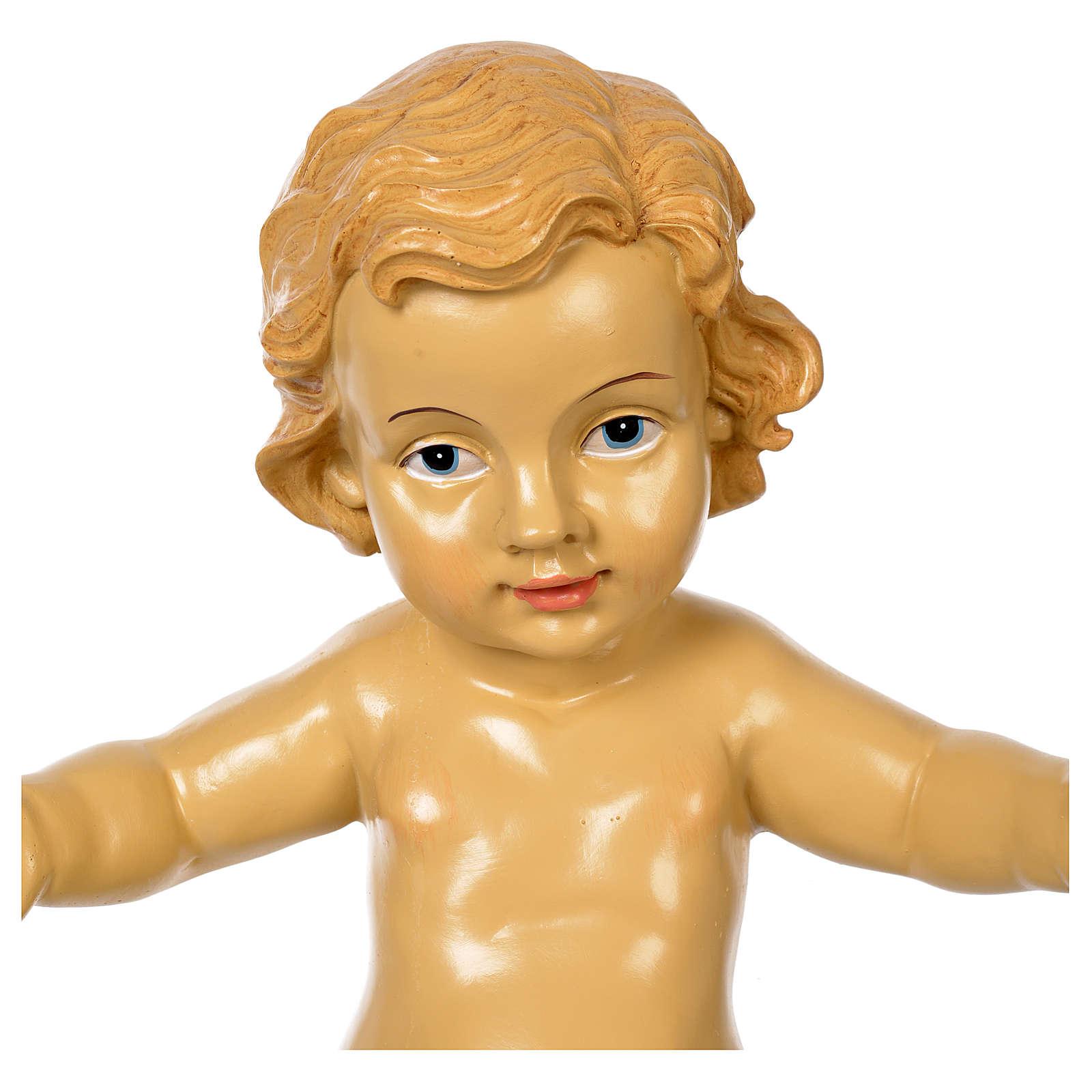 Gesù Bambino resina presepe 100 cm 3