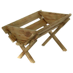 Culla in legno per Gesù Bambino presepe 100 cm s1