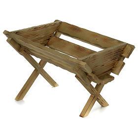 Culla in legno per Gesù Bambino presepe 100 cm s3