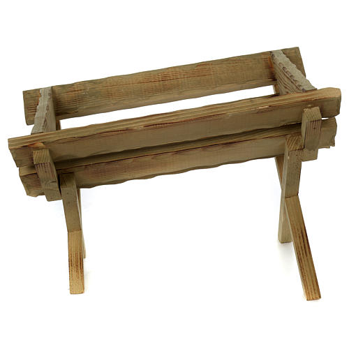 Culla in legno per Gesù Bambino presepe 100 cm 4