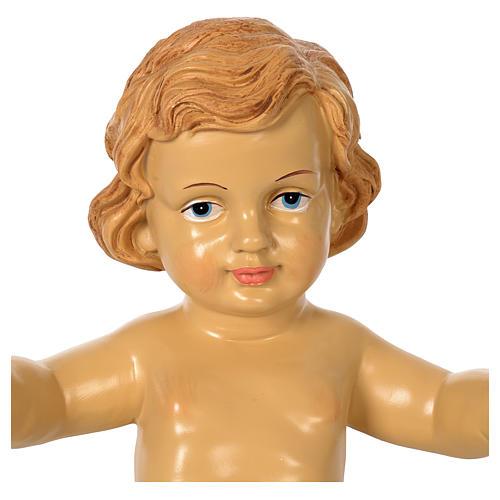 Niño Jesús resina para belén de altura media150 cm 2