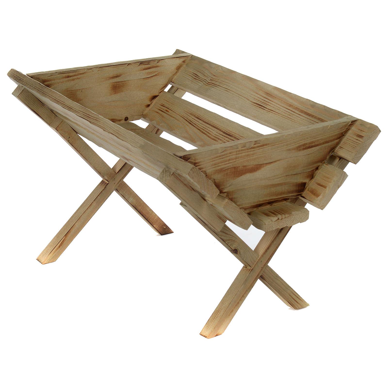 Berceau en bois pour Enfant Jésus crèche 150 cm 3