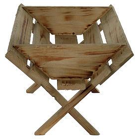 Berceau en bois pour Enfant Jésus crèche 150 cm s2