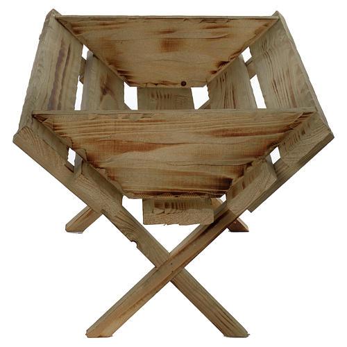 Berceau en bois pour Enfant Jésus crèche 150 cm 2