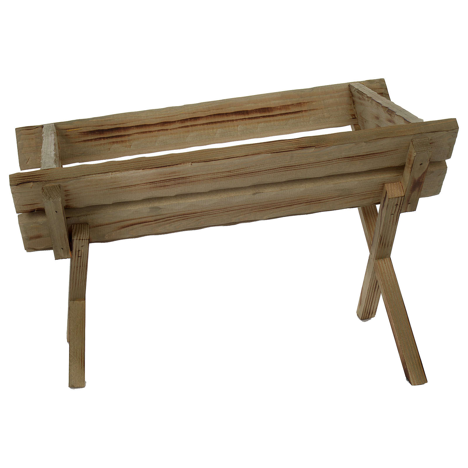 Culla in legno per Gesù Bambino presepe 150 cm 3