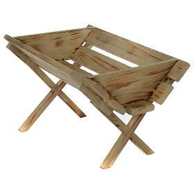 Culla in legno per Gesù Bambino presepe 150 cm s3