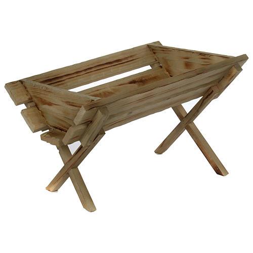 Culla in legno per Gesù Bambino presepe 150 cm 1