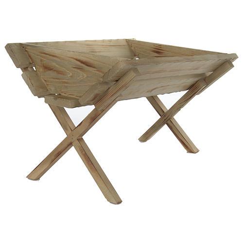 Culla in legno per Gesù Bambino presepe 150 cm 4