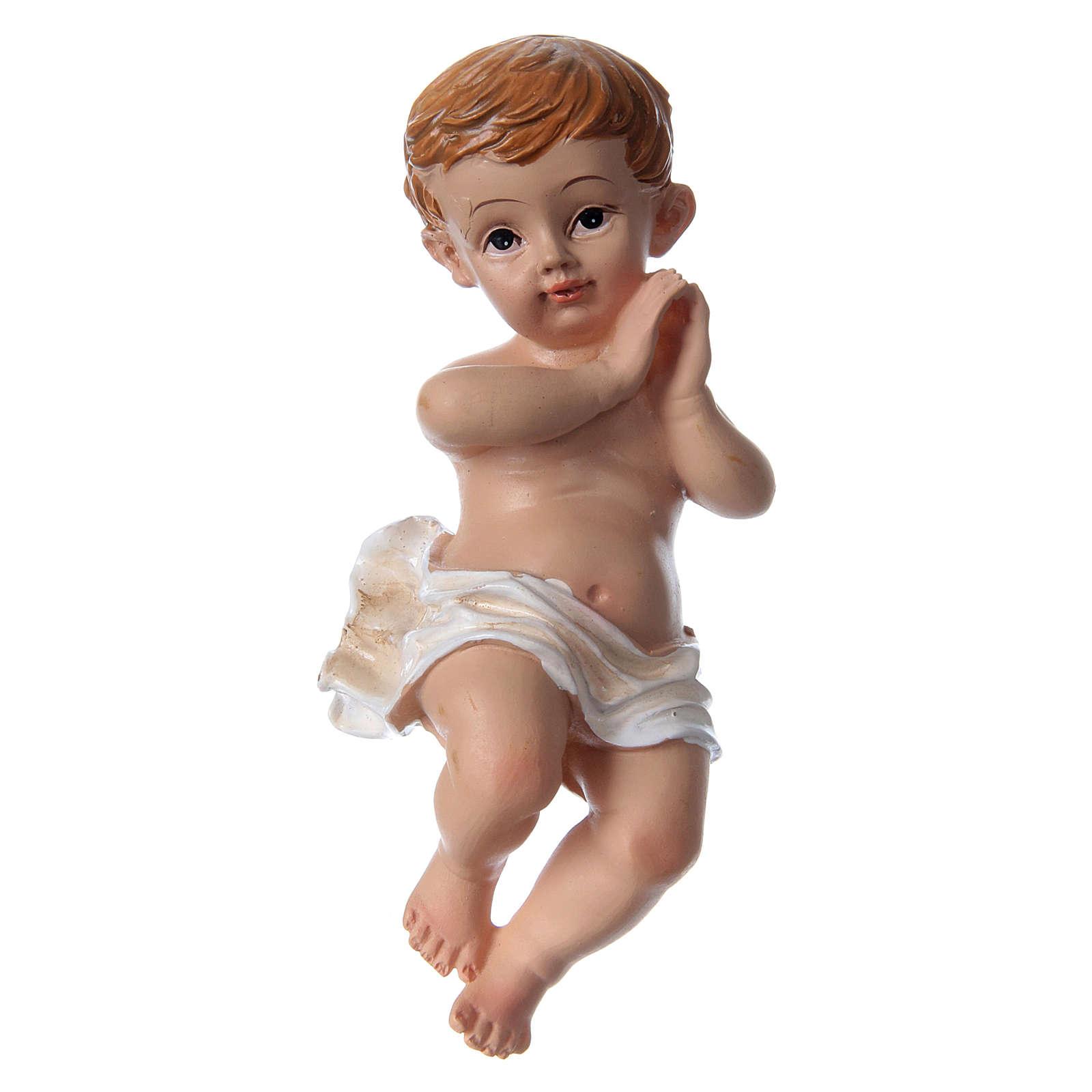 Santon Enfant Jésus h réelle 10 cm résine 3