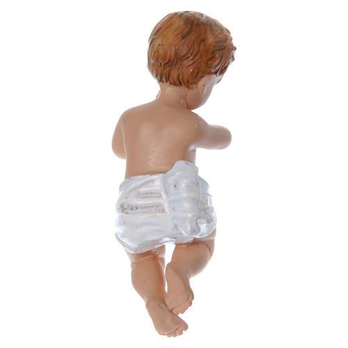 Santon Enfant Jésus h réelle 10 cm résine 2