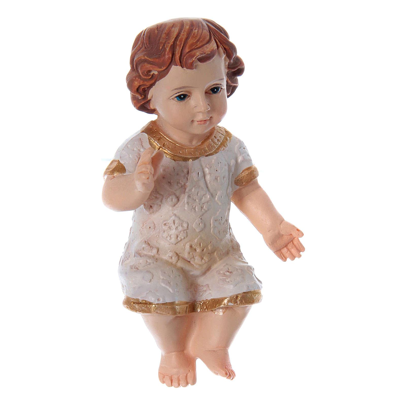 Niño Jesús vestido de resina h real 5 cm 3