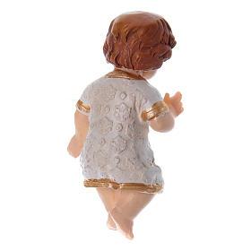 Enfant Jésus habillé en résine h réelle 5 cm s2