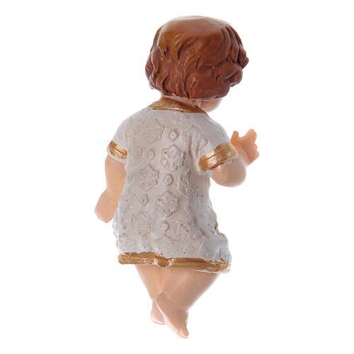 Enfant Jésus habillé en résine h réelle 5 cm 2