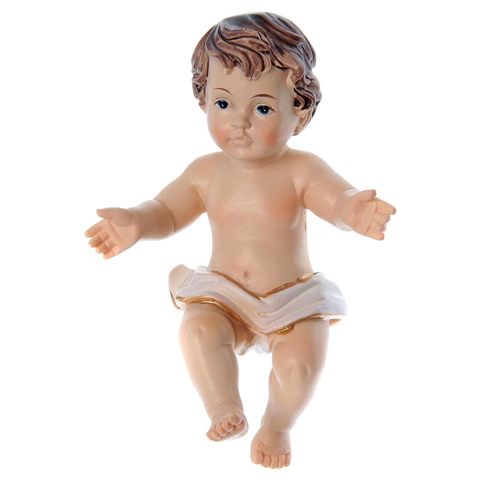 Gesù bambino con braccia aperte h reale 10 cm 3