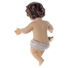 Gesù bambino con braccia aperte h reale 10 cm s2