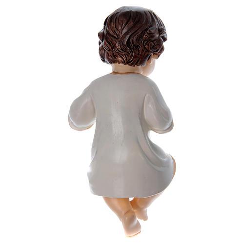Bambinello veste bianca h reale 10 cm in resina 2
