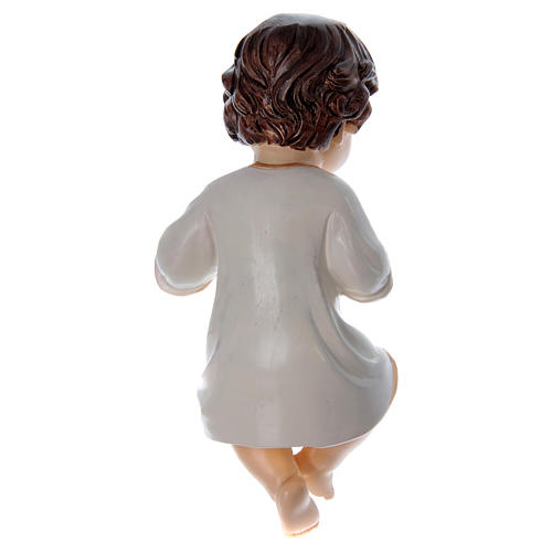 Dressed toddler Jesus, white real height 10 cm in resin 2