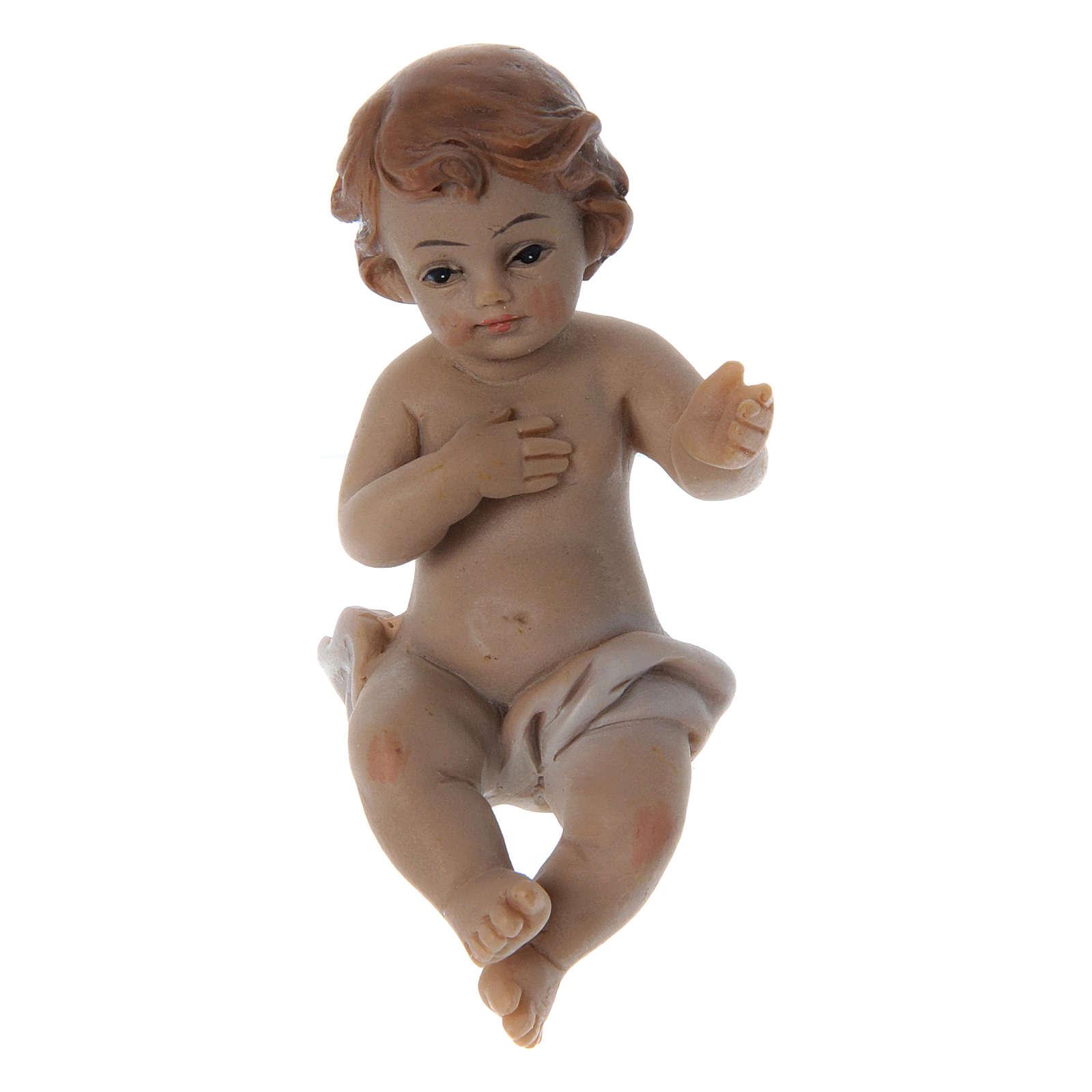 Estatua Niño Jesús resina h real 6 cm 3