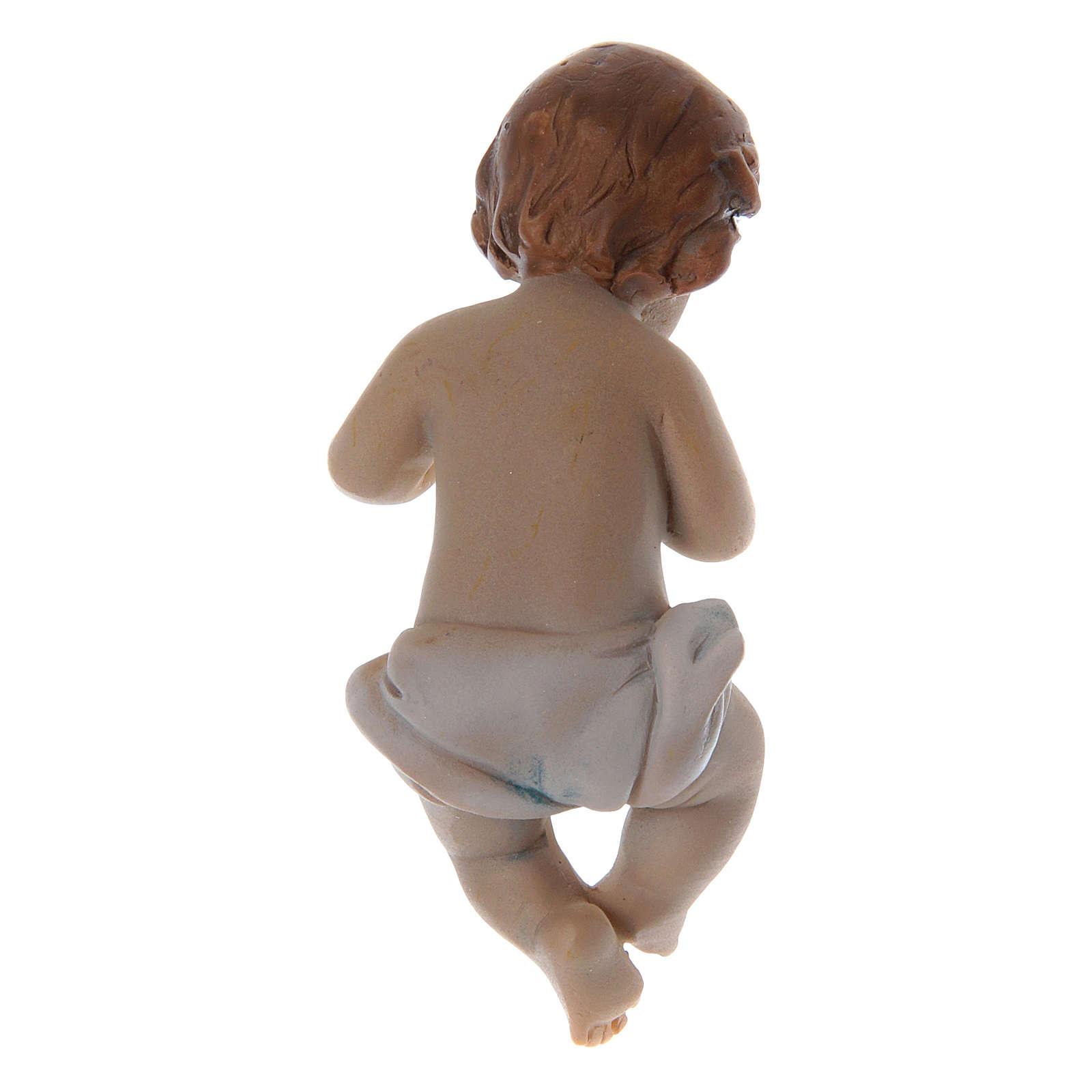 Statuina Gesù bambino resina h reale 6 cm 3