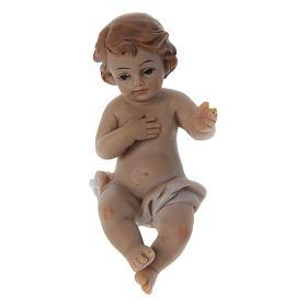 Statuina Gesù bambino resina h reale 6 cm s1