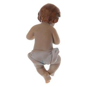 Statuina Gesù bambino resina h reale 6 cm s2