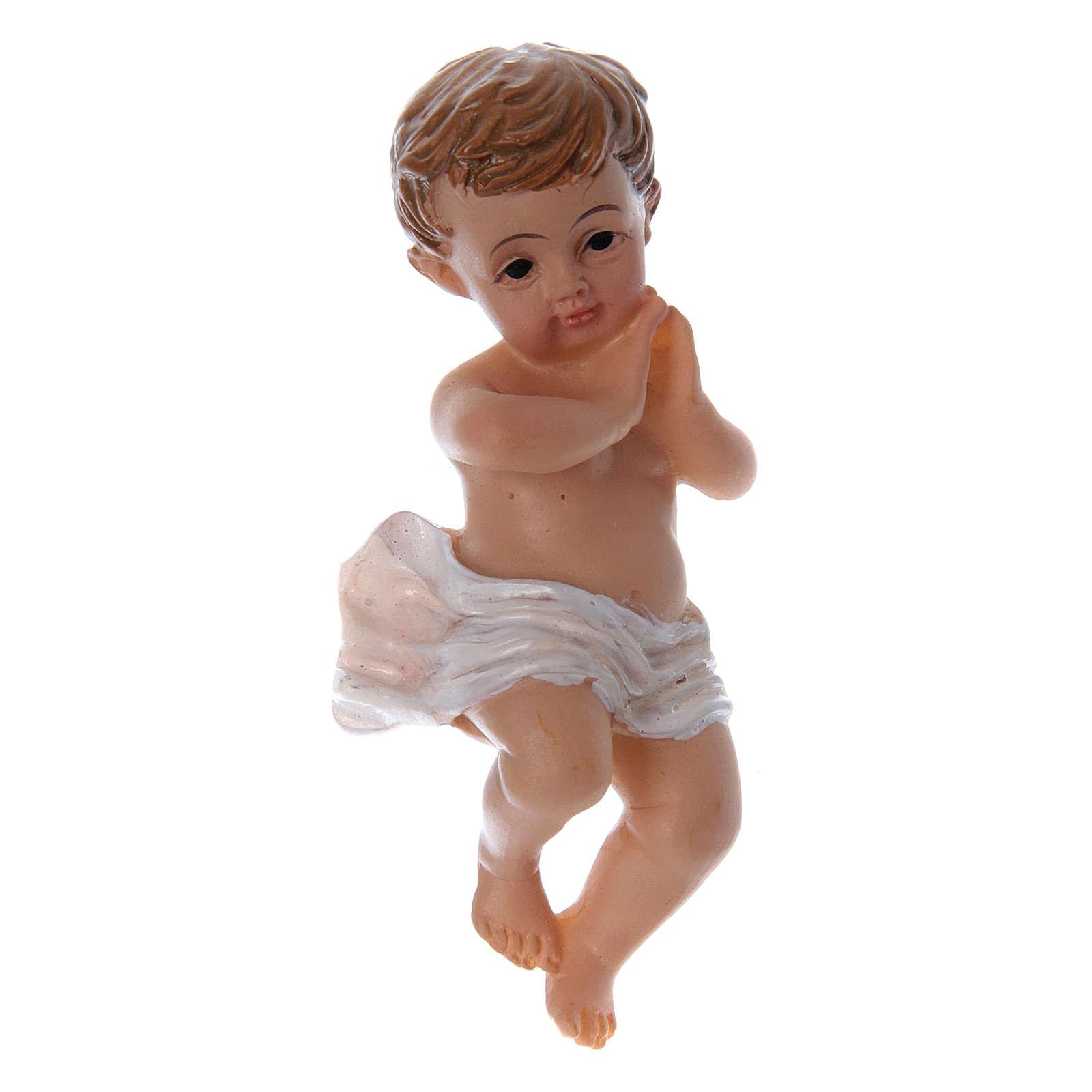 Enfant Jésus avec pagne h réelle 6 cm résine 3