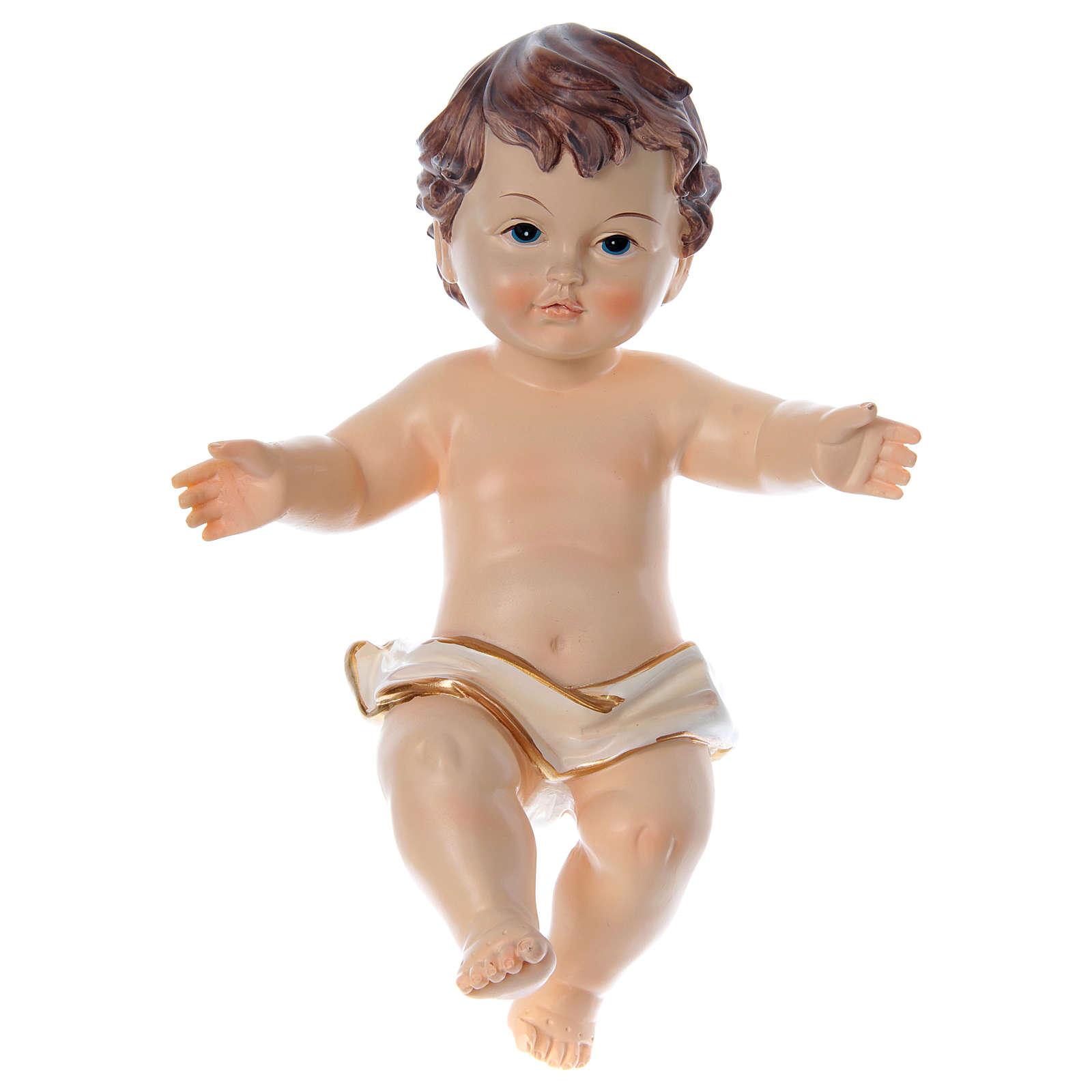 Enfant Jésus bras ouverts résine h réelle 20 cm 3