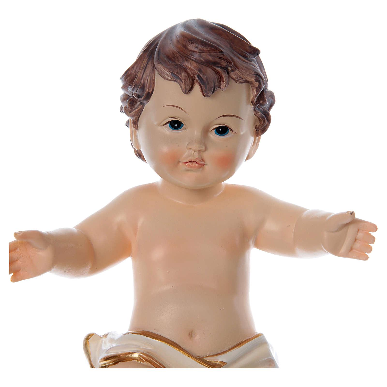 Menino Jesus braços abertos altura real 20 cm resina 3