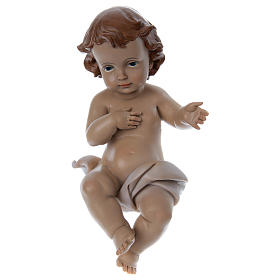 Statuetta Gesù bambino h reale 22 cm resina s1