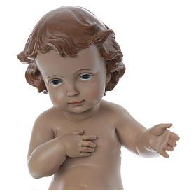 Statuetta Gesù bambino h reale 22 cm resina s2