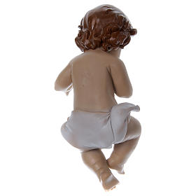 Statuetta Gesù bambino h reale 22 cm resina s3