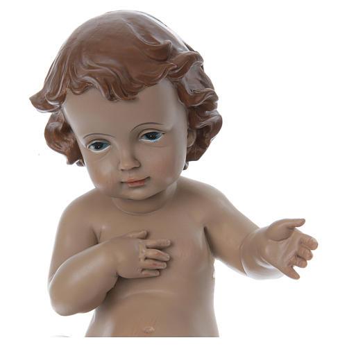 Statuetta Gesù bambino h reale 22 cm resina 2
