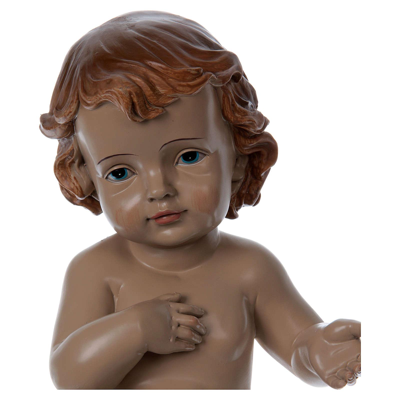 Bambinello in resina con drappo h reale 33 cm 3