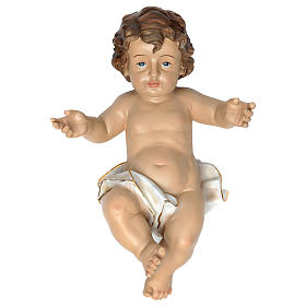 Gesù bambino con drappo bianco h reale 58 cm s1
