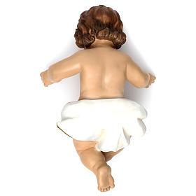 Gesù bambino con drappo bianco h reale 58 cm s3