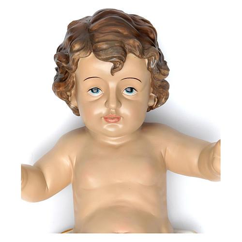 Gesù bambino con drappo bianco h reale 58 cm 2