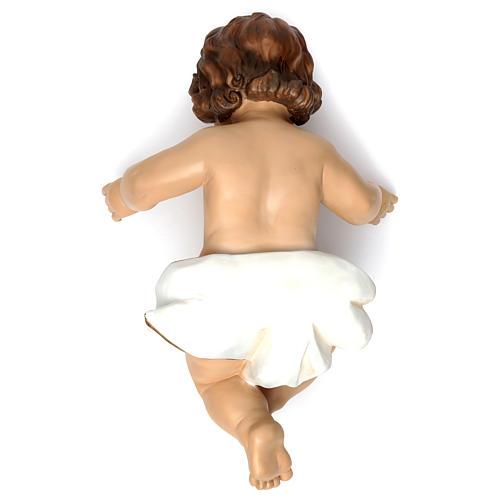 Gesù bambino con drappo bianco h reale 58 cm 3