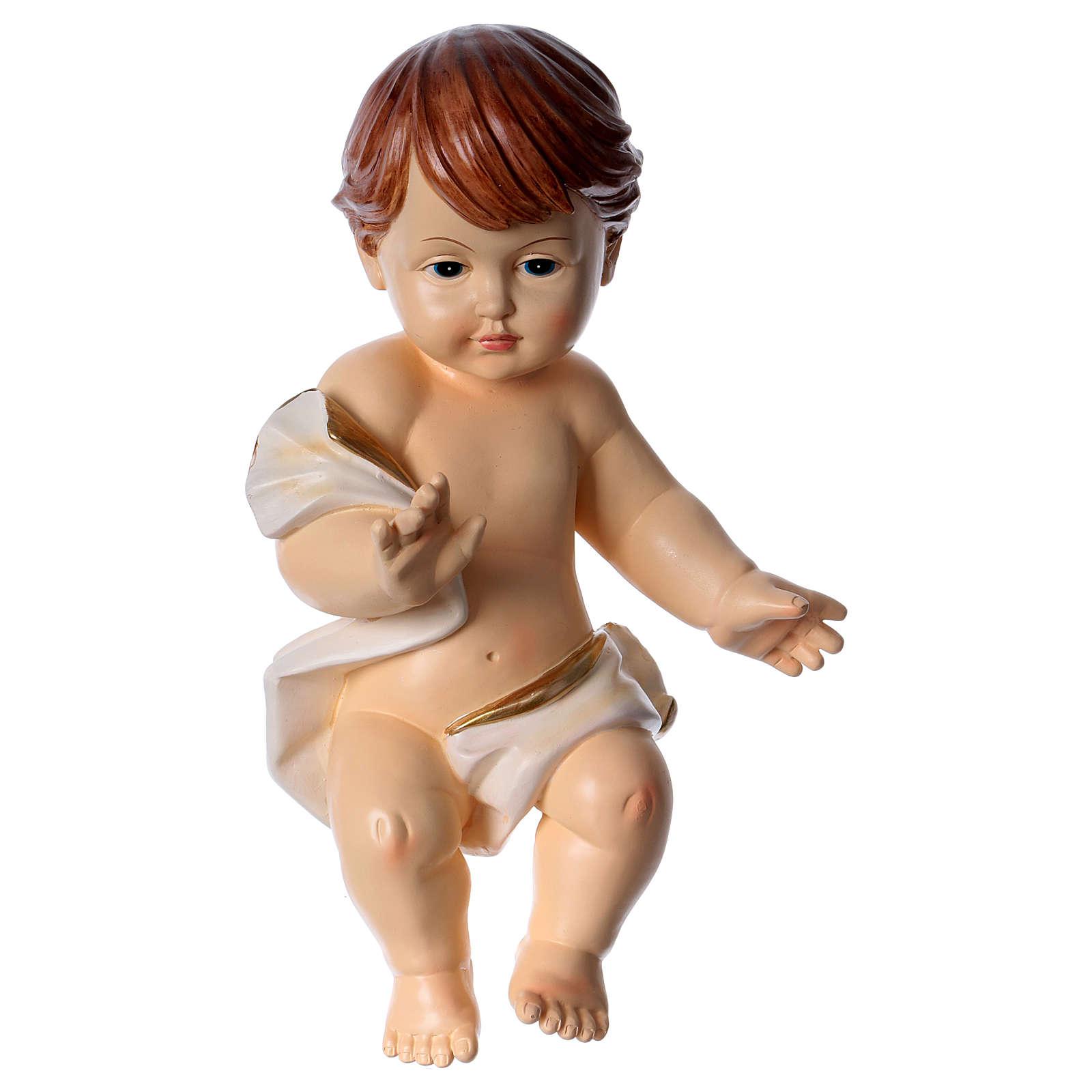 Gesù bambino con drappo h 30 cm 3
