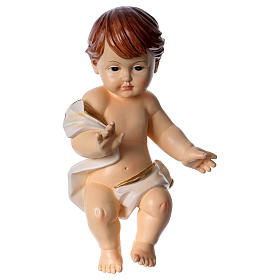 Gesù bambino con drappo h 30 cm s1